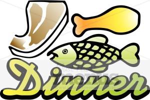 Word clipart dinner  Art Word Dinner