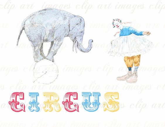 Word clipart elephant 1 Digital Pinterest Collage Art