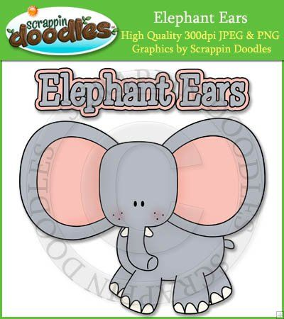 Word clipart elephant Art Elephant & Ears &