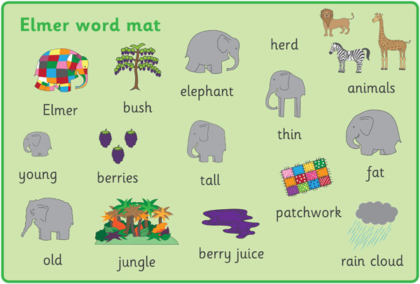 Word clipart elephant Elephant Elmer the and collection