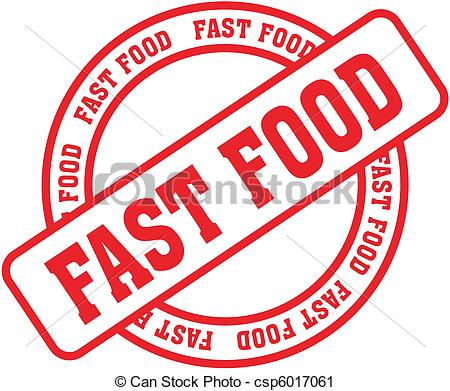 Word clipart food Word fast word stamp8 Vector