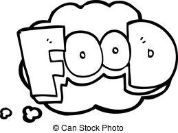 Word clipart food Cartoon bubble word word Vector