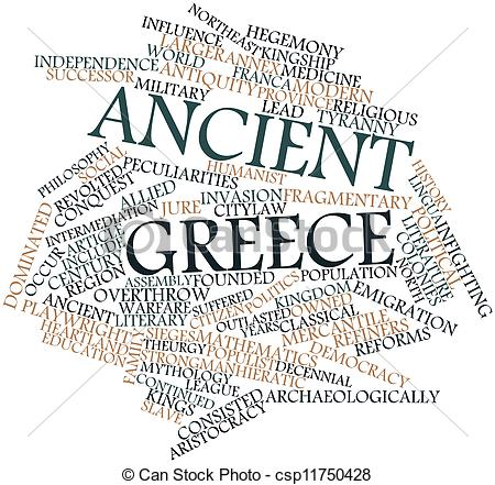 Word clipart greece Clip csp11750428 Ancient word of