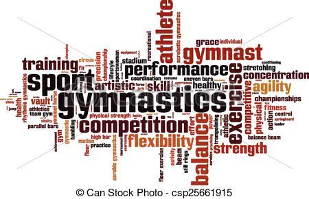 Gymnastics clipart the word Gymnastics cloud word concept Art