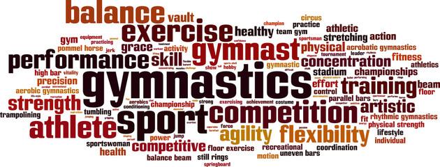 Word clipart gymnastics Cloud word Vector