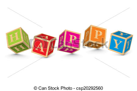 Word clipart happy HAPPY with of written Clip
