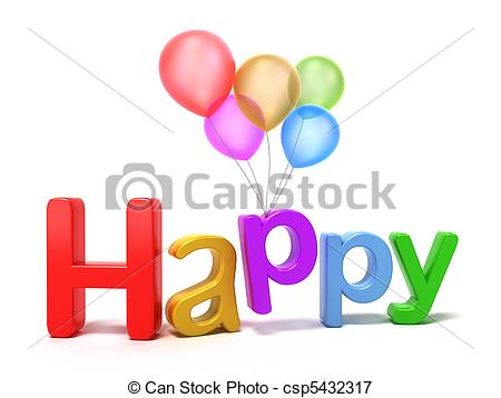 Word clipart happy Happy with of Happy letters