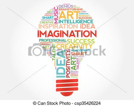 Word clipart imagination Illustration cloud concept word csp35426224