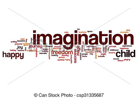 Word clipart imagination Of concept word cloud csp31335687