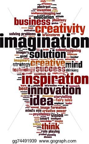 Word clipart imagination Concept EPS Imagination Clip gg74491939