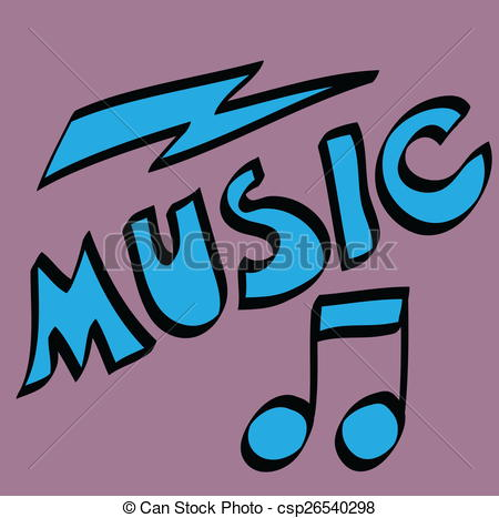 Word clipart music  and of Illustration cartoon
