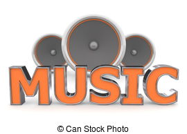 Word clipart music Of MP3 Music with