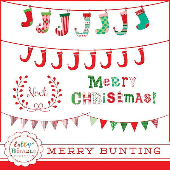 Word clipart noel Clipart bunting art banners word