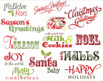Word clipart noel Quotes (Instant / and Frames