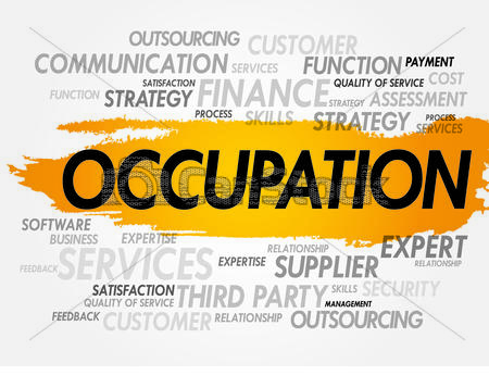 Word clipart occupation OCCUPATION cloud related Clipart Word