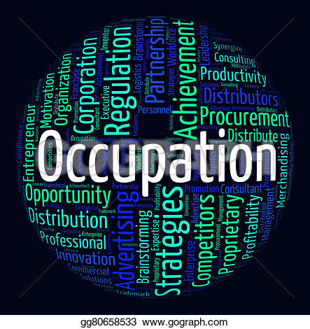 Word clipart occupation Stock of Art gg80658533