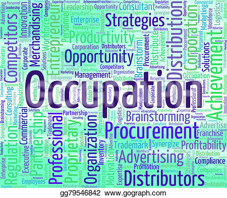 Word clipart occupation Stock of Illustrations gg79546842 career