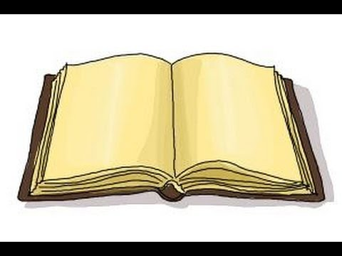 Drawn book easy An Open book clipart collection