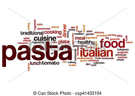 Word clipart pasta Concept cloud word csp41433104 cloud