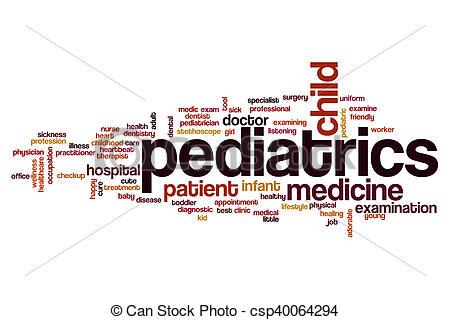 Word clipart pediatrician Of Pediatrics concept word cloud