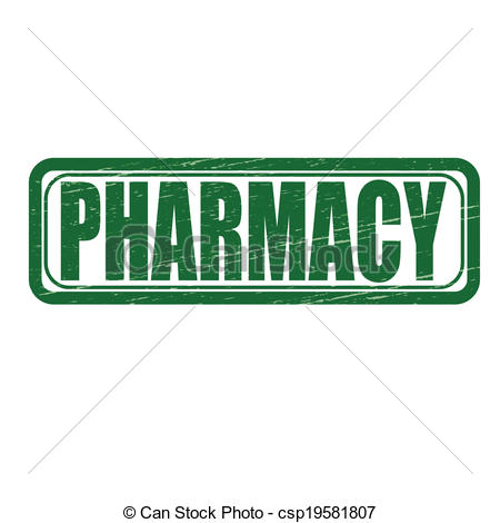 Word clipart pharmacy Vector csp19581807 Stamp pharmacy