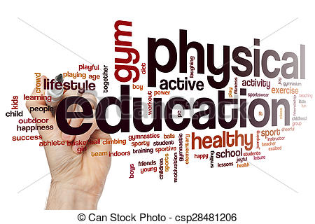 Word clipart physical education  Stock cloud Physical Physical