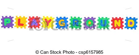 Playground clipart word  Images puzzle Stock Playground