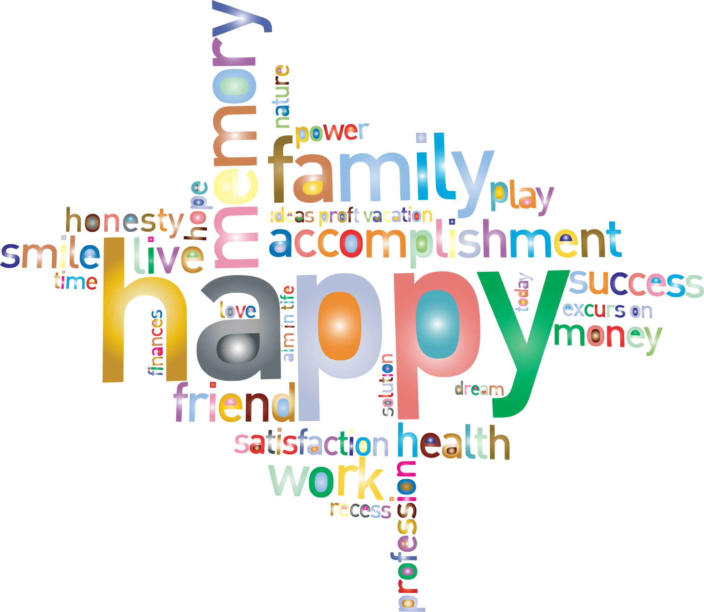 Word clipart recess Transparent background Family Prismatic Word
