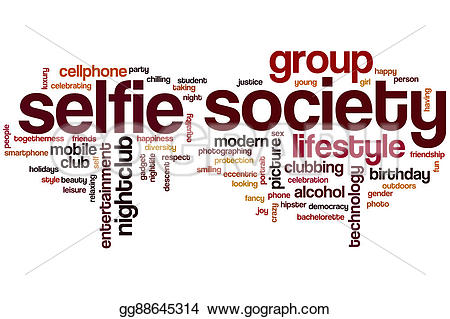 Word clipart selfie  Clip society gg88645314 Illustration