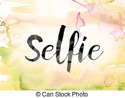 Word clipart selfie Illustrations and word word Selfie
