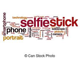 Word clipart selfie Stock concept cloud cloud stick