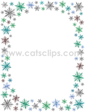 Word clipart snowflake Collection Snowflake border Clipart Bing