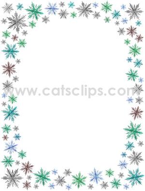 Word clipart snowflake  Blue Snowflake border snowflake