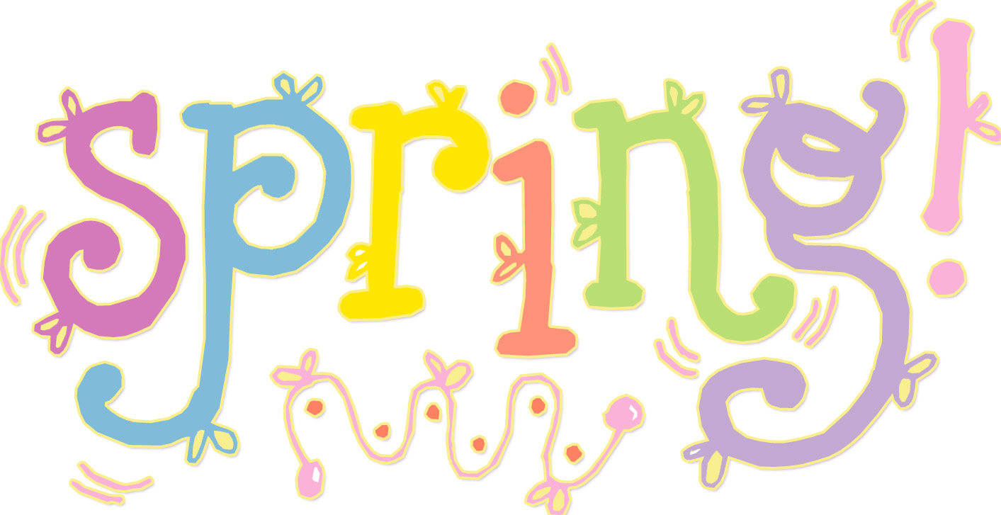Word clipart spring Cliparts Cliparts Spring Zone Word