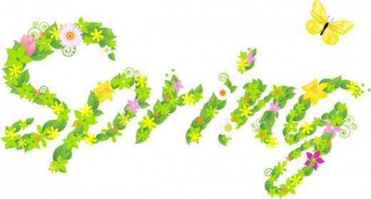 Word clipart spring Best ART Spring Free HubPages