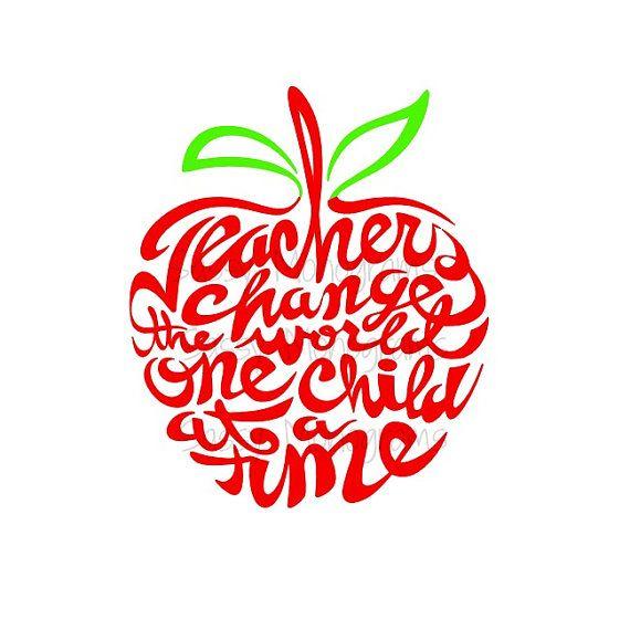Word clipart teacher World collection Change apple teacher