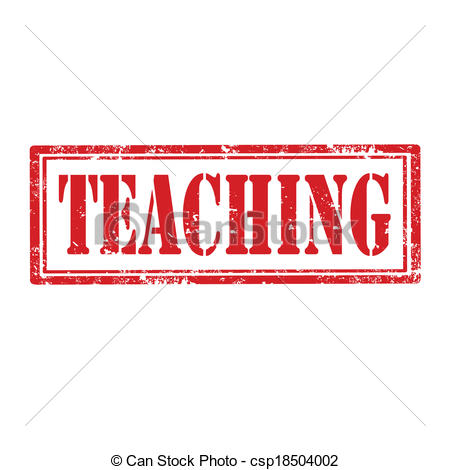 Word clipart teacher Vector rubber stamp Teaching stamp