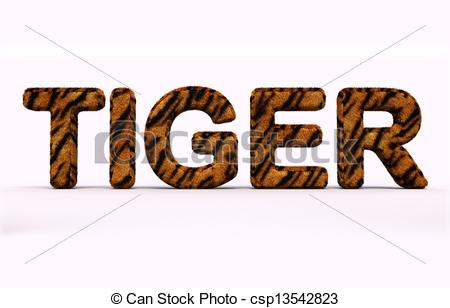 Word clipart tigers Clip word Stock csp13542823 Illustration