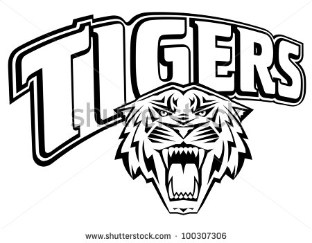 Word clipart tigers Illustration in Tigers stock photo
