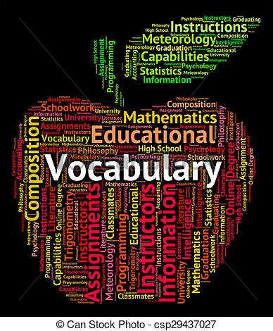 Word clipart vocabulary Vocabulary And And Text Vocabularies