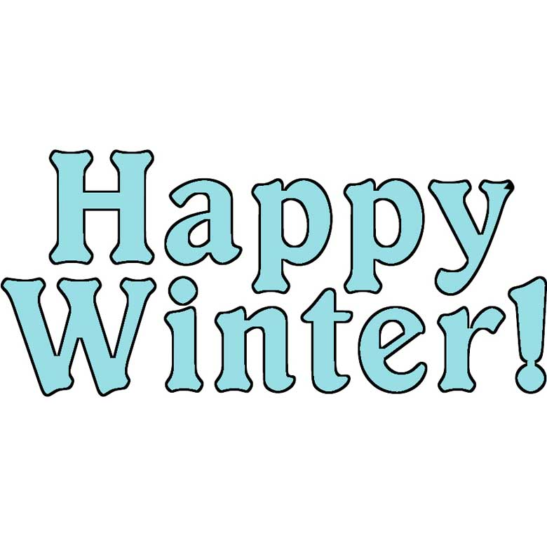 Word clipart winter Art Free Winter Dollar Clip