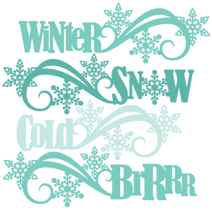 Word clipart winter Titles cut cute clipart free