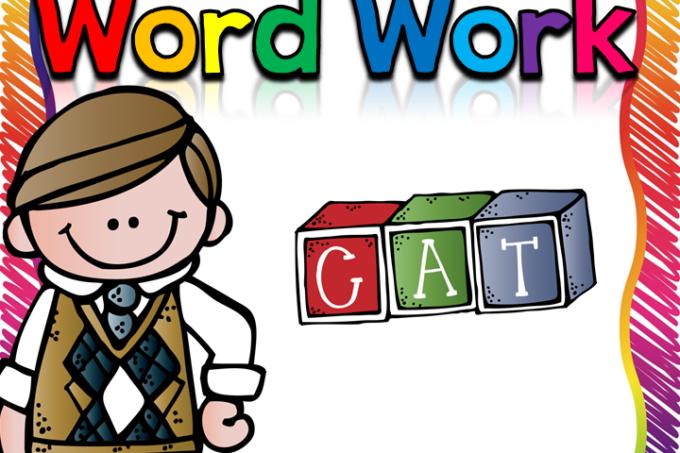 Word clipart word work In Work First Fun Word
