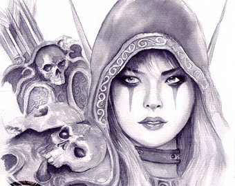 World Of Warcraft clipart female (World Windrunner Wall Sylvanas of