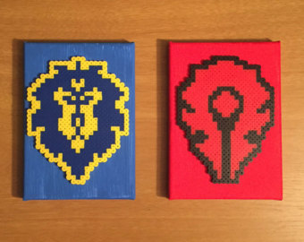 World Of Warcraft clipart pixel art On Alliance World Horde Painted