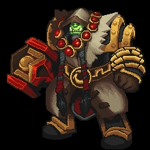 World Of Warcraft clipart pixel art DeviantArt Martimakesthings  Thrall Art