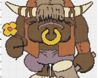 World Of Warcraft clipart pixel art CROCHET WoW Warcraft Pixel tauren