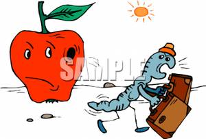 Worm clipart angry Carrying Free Apple Carrying Clipart