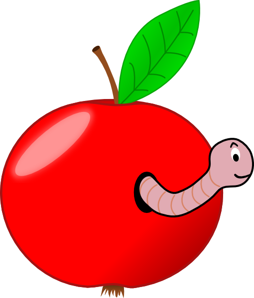 Worm clipart apple worm As: at  clip Red