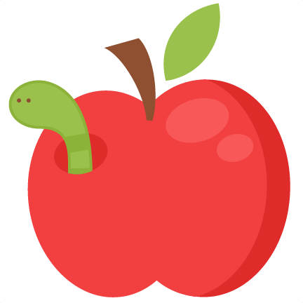 Worm clipart apple worm SVG cutting Worm with apple